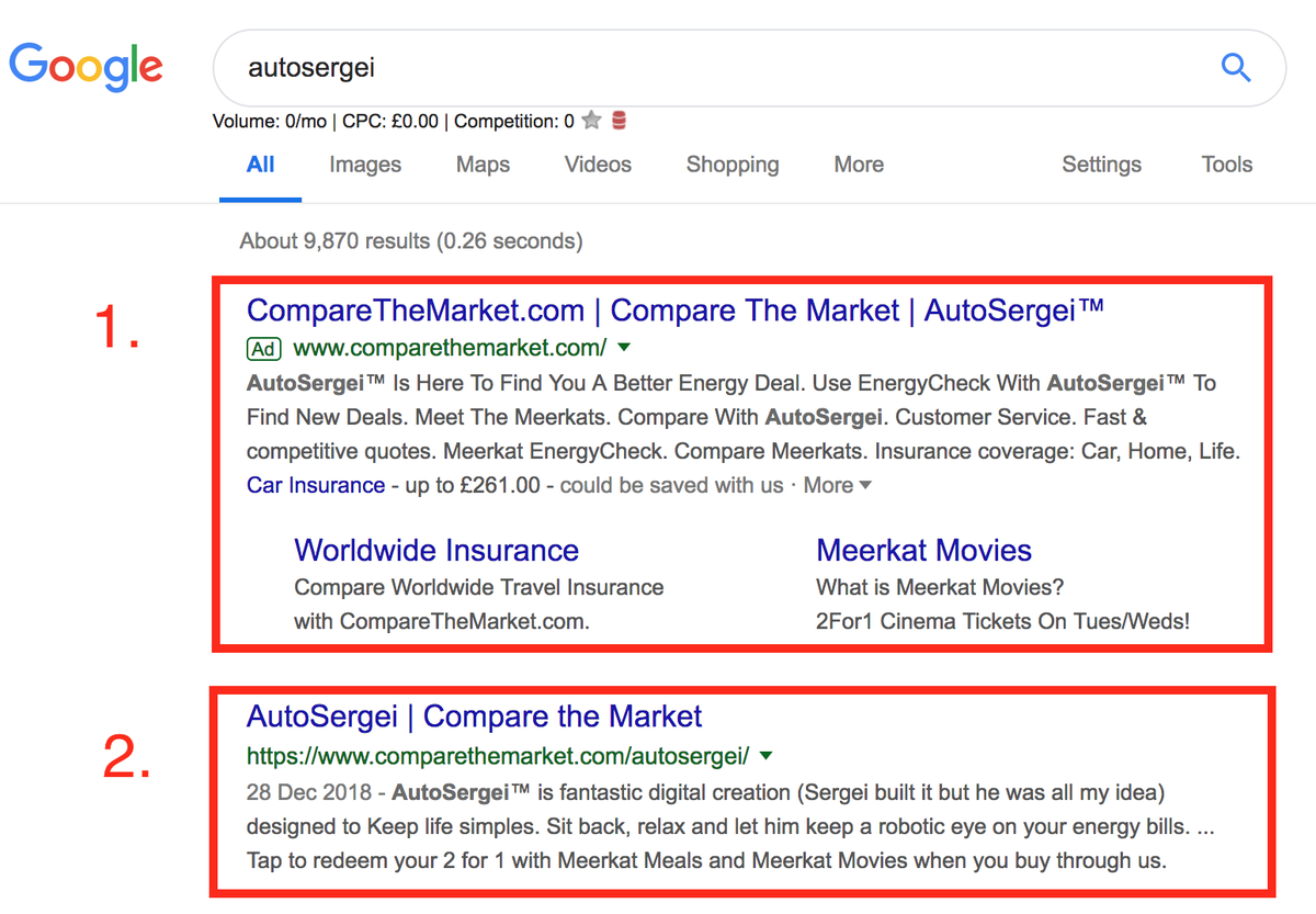 autosergei search results