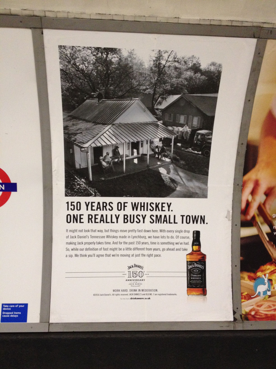 jack daniels tube advert